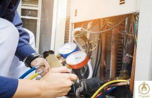 بررسی فشار گاز مبرد