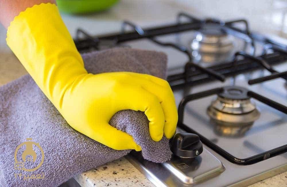 نحوه تمیز کردن گاز رومیزی